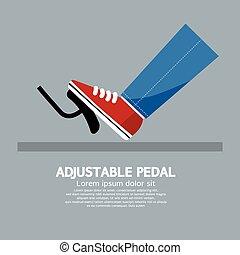 inställbar, pedal.