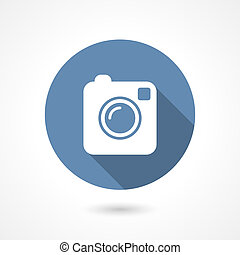 Instagram camera icon - Hipster photo or camera icon with...