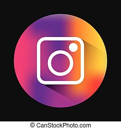 instagram classic emblem icon vector illustration design