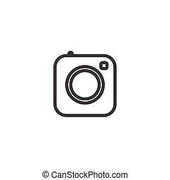 instagram, kamera, ikon, fotografi, iconerne, medier, sociale