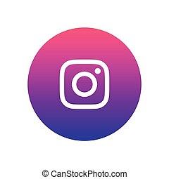 Instagram vector icon design for website - Instagram vector ...