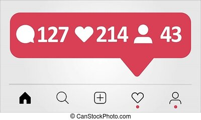 Instagramm-like interface - Comments, Likes, Follower...