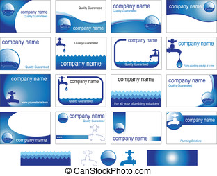 instalación de cañerías, tarjetas, empresa / negocio,...