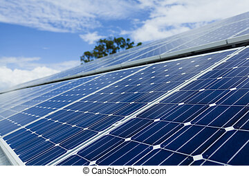 instalación, panel solar