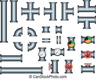 instalacja wodociągowa, rura, zbudowanie wystawiają