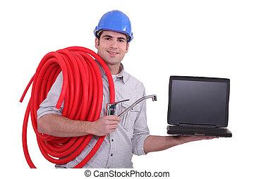 instalator, laptop