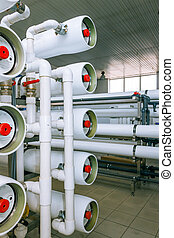 installatie, van, industriebedrijven, vlies, artikelen & hulpmiddelen