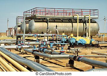 installatie, van, pompen, oil.
