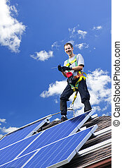 installatie, zonnepaneel