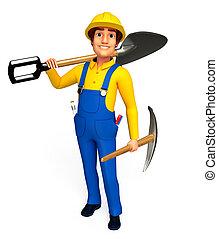 installatiebedrijf, spade