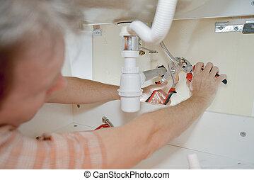 installatiebedrijf, zinken, onder