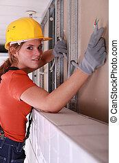 installation, électrique, électricien, système, fourniture