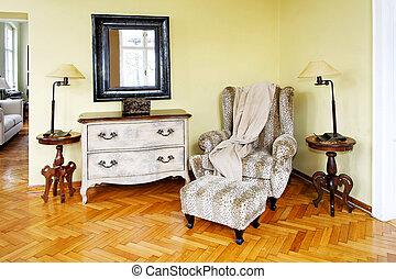 installation, fauteuil