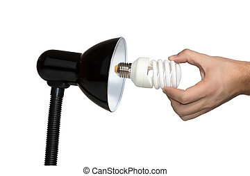 Installation of a modern economical bulb