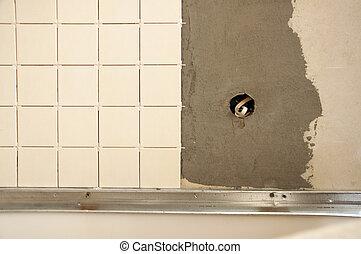 installation of ceramic tile