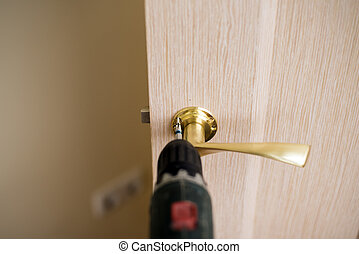 Installation of door lock