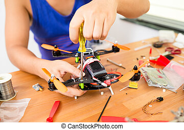 Installation of flying drone