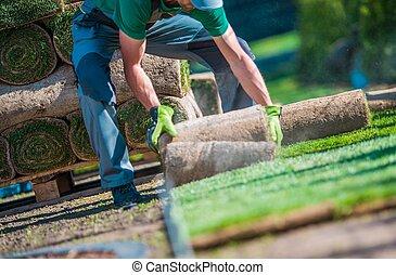 Installation of Grass Turfs