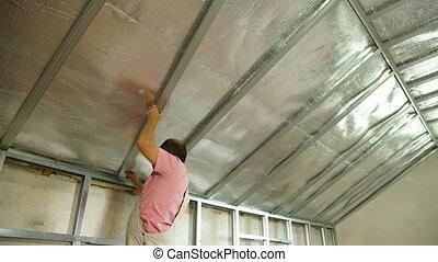 Installation of gypsum plasterboard