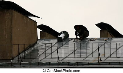 Installation of ventilation on the roof