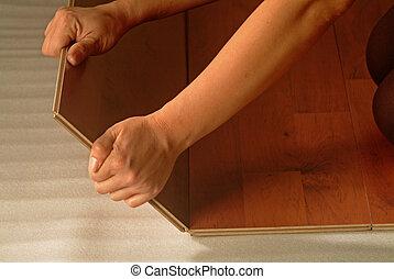 wooden planks - installation of wooden planks