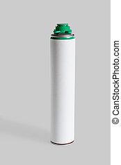installation., pulverizador, espuma