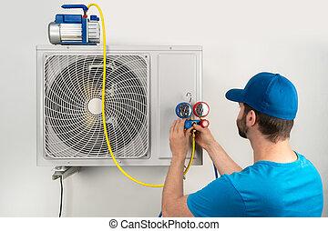 Installation service fix repair maintenance of an air ...