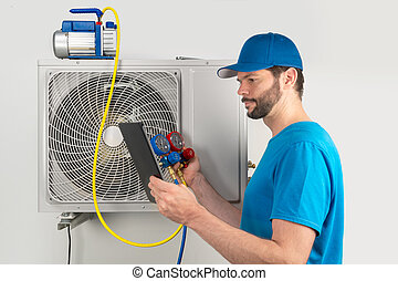 Installation service fix repair maintenance of an air ...
