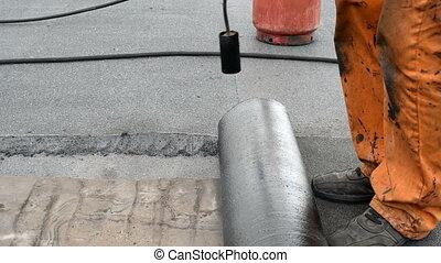 Installation waterproofing membran