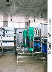 installazione, di, industriale, membrana, congegni