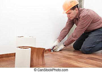 installazione, pavimentazione