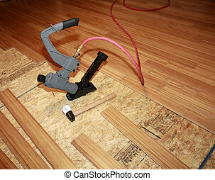 installeren, hard-wood, bevloering