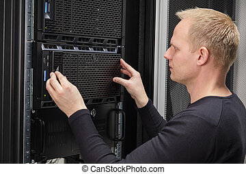 installieren, datacenter, server, berater