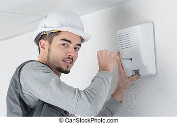 installing a device on the wall