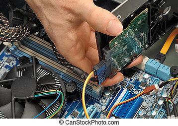 Installing a hard drive