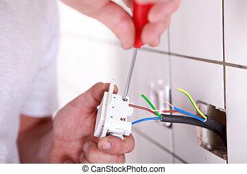 Installing a plug