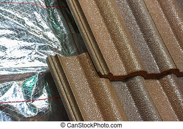 Installing roof insulation