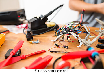 Installing the component on drone body