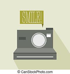 instant camera flat icon