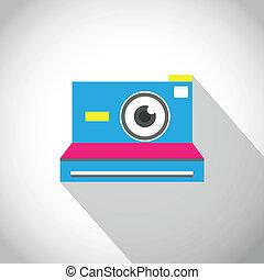 Instant camera lens eye