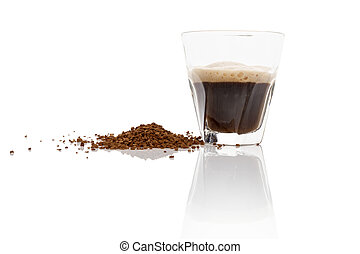 Instant coffee. - Instant coffee powder and delicious...