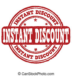 Instant discount stamp