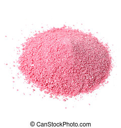 Instant Juice Powder Concentrate Isolated on White Background