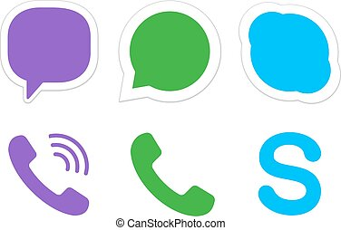Instant messager icons - Instant messager and VoIP icons,...