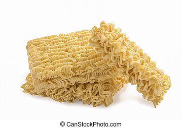Instant noodles, isolated on white background