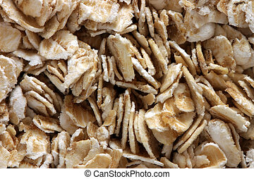 Instant Oatmeal. - Closeup shot of instant oatmeal flakes