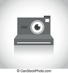 instant photo camera lens eye