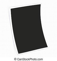 Instant photo frame.