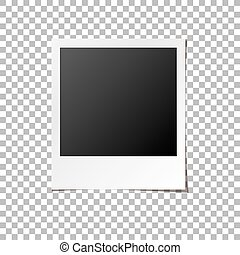 Instant Photo Frame Isolated Vector - Instant photo frame. ...