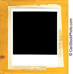 Instant Photo Frame on Vintage Paper